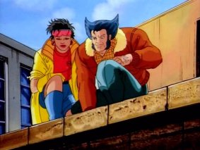 Logan and Jubilee from X-Men: the Animated Series